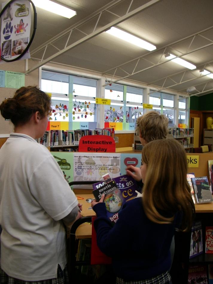 Students choosing their GENRE note
