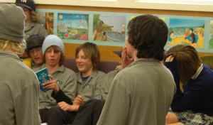 Teenagers reading aloud in MACLIC