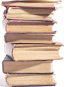 Pile of books (clipart)
