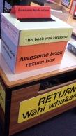 Awesome book return box